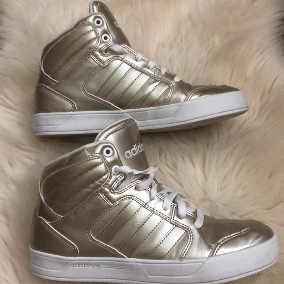 Adidas Neo Raleigh pale gold high top shoe